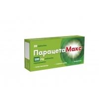 ПАРАЦЕТАМАКС Табл. 500 мг. х 20 1,90 лв. от Vitania.bg