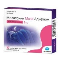 МЕЛАТОНИН МАКС ТАБЛ. 3 мг.х 30 Адифарм 7,82 лв. от Vitania.bg