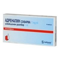 АДРЕНАЛИН АМП. 0.1%  1мл. х 10 бр. 13,50 лв. от Vitania.bg