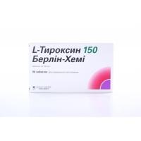 Л-ТИРОКСИН тбл.150мкг.х50 4,98 лв. от Vitania.bg