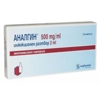 АНАЛГИН АМП. 500 мг 2 мл.х10 бр. 9,40 лв. от Vitania.bg