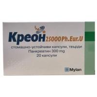 КРЕОН 25000 КАПС. 300 мг.х 20 14,30 лв. от Vitania.bg