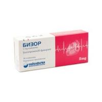 БИСОР 5 мг. таблети x 30 2,59 лв. от Vitania.bg
