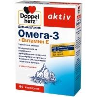 ДОПЕЛХЕРЦ АКТИВ Омега-3 + витамин Е 60 бр. 10,50 лв. от Vitania.bg