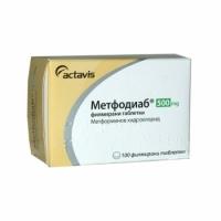 МЕТФОДИАБ табл 500 мг х 100 6,70 лв. от Vitania.bg