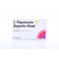 Л-ТИРОКСИН тбл.75мкг.х50 2,57 лв. от Vitania.bg