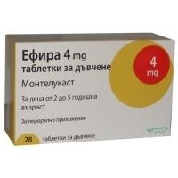 ЕФИРА ТАБЛ. 4 мг.х 28  7,32 лв. от Vitania.bg