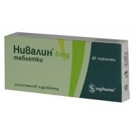 НИВАЛИН Табл. 5 мг.х 60 бр. 44,60 лв. от Vitania.bg
