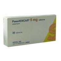 РАМИХЕКСАЛ ТАБЛ. 5 мг.х 30  4,10 лв. от Vitania.bg