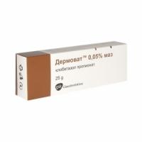 ДЕРМОВАТ УНГВ. 0,05% 25 гр. 3,89 лв. от Vitania.bg