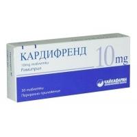КАРДИФРЕНД 10 мг. таблети x 30 ЧАЙКАФАРМА 15,46 лв. от Vitania.bg
