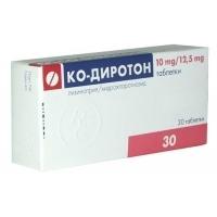 КО-ДИРОТОН ТАБЛ. 10 мг./12.5 мг.x 30 7,30 лв. от Vitania.bg