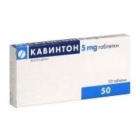 КАВИНТОН ТАБЛ. 5 мг.х 50 8,50 лв. от Vitania.bg