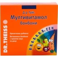 НАТУРПРОДУКТ МУЛТИВИТАМОЛ бонбони 50 гр. DR.THEISS 3,59 лв. от Vitania.bg