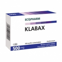 КЛАБАКС ТАБЛ. 500 мг.х 10 13,96 лв. от Vitania.bg