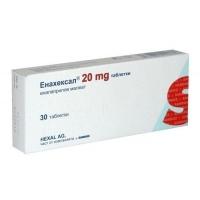 ЕНАХЕКСАЛ ТАБЛ. 20 мг.х 30  4,50 лв. от Vitania.bg