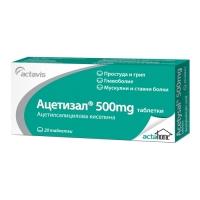 АЦЕТИЗАЛ табл. 500 мг. 2 х 10 1,69 лв. от Vitania.bg