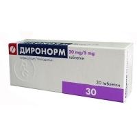 ДИРОНОРМ ТАБЛ. 20 мг. /5 мг.х 30 15,80 лв. от Vitania.bg