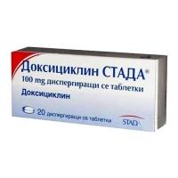 ДОКСИЦИКЛИН ТАБЛ. 100МГ Х 20 STADA  5,60 лв. от Vitania.bg