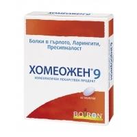 ХОМЕОЖЕН-9 ТАБЛ. 60 бр. 6,06 лв. от Vitania.bg